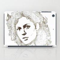 ripley iPad Cases featuring Ellen Ripley sketch- Sigourney Weaver- Alien by Robin Stevens