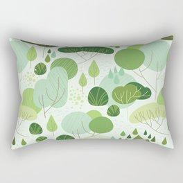 Lush Forest - Day Palette Rectangular Pillow