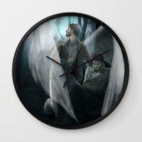 verse Wall Clocks featuring Reverse!verse Purgatory by Justyna Rerak