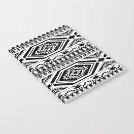 Aztec Geometric Print - Black Notebook