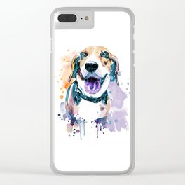 Sweet Beagle Clear iPhone Case