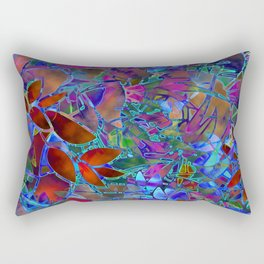 Floral Abstract Stained Glass G174 Rectangular Pillow
