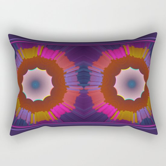 Colourful prismatic abstract Rectangular Pillow