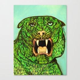 Green Tiger Fangs Canvas Print