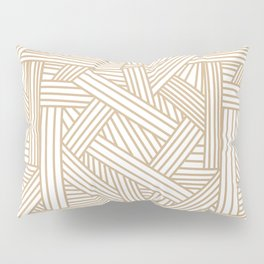 Sketchy Abstract (Tan & White Pattern) Pillow Sham