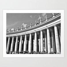 Vatican Columns  Art Print