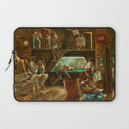 Classical African-American Masterpiece 'Saturday Night Durham' by Ernie Barnes Laptop Sleeve