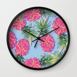 Pineapple Print Wall Clock