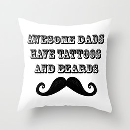 Awesome Dads Fuuny Fathers Day Gifts Throw Pillow