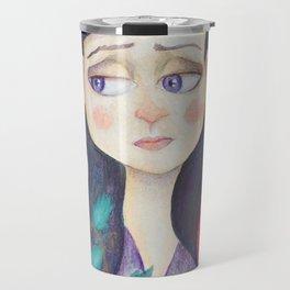 Purple Wilt Travel Mug