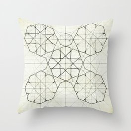 Geometry Sketch Nine Throw Pillow