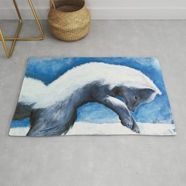 Animal - Antoine the Artic Fox - by LiliFlore Rug