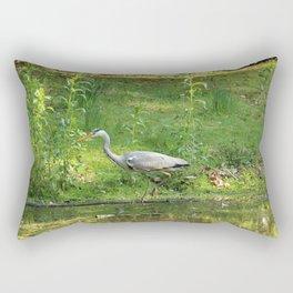 Heron Standing In Water Rectangular Pillow