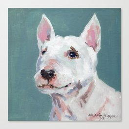 Mini Bull Terrier Canvas Print