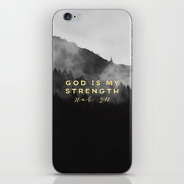 GOD IS MY STRENGTH iPhone Skin