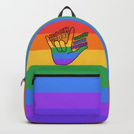 Rock on the Streets with Pride Backpack