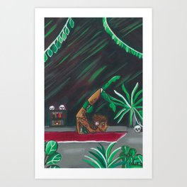 Poison Ivy's Training Room Art Print