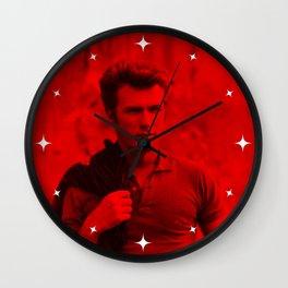 Clint Eatswwod - Celebrity (Photographic Art) Wall Clock