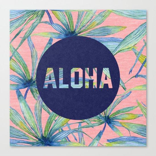 Aloha - pink version Canvas Print