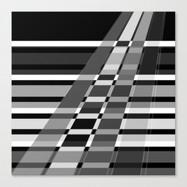 Black and white abstract pattern . The slant line 1. Canvas Print