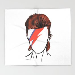 Bowie Rock Icon Silhouette Throw Blanket