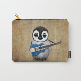 Baby Penguin Playing Salvadorian Flag Acoustic Guitar Carry-All Pouch