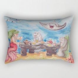 Mermaid Tea Party Rectangular Pillow