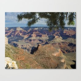 Battleship Rock, Grand Canyon NP, AZ -- Just after sunrise Canvas Print