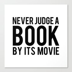 Never Judge A Book By Its Movie Canvas Print