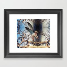 ANGEL IN A TREE Framed Art Print