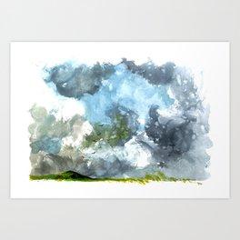 Irish sky Art Print
