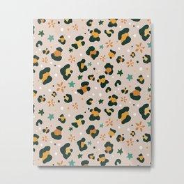 Spring Cheetah Pattern VIII Metal Print