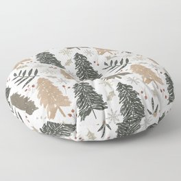 Winter in the Woods  Floor Pillow
