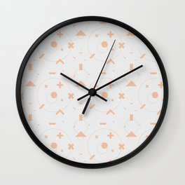 abstract pattern v x peach Wall Clock