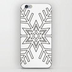 Snowflake | Black and White iPhone & iPod Skin