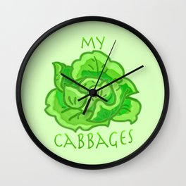my cabbages! Wall Clock