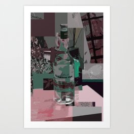 On The Table Green Art Print