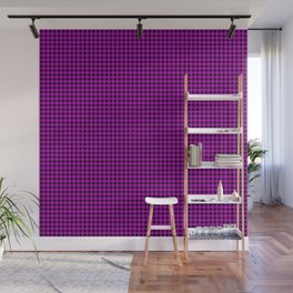 Zombie Purple and Black Halloween Gingham Check Wall Mural