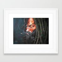 rasta Framed Art Prints featuring Rasta by Bocese