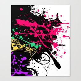 Funky splatter Canvas Print