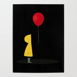 Red Balloon for 1 Penny Poster