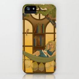 Reading Forest iPhone Case