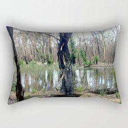 Reflecting after a bush Fire Rectangular Pillow