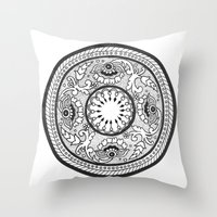 amelie Throw Pillows featuring Amelie by Gabrielle Greet