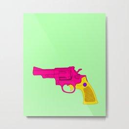 Pink Toy Revolver Metal Print