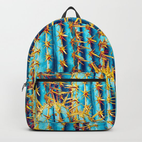 Neon Gold Cactus Backpack