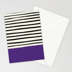 Purple Grape x Stripes Stationery Cards