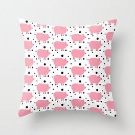 Here Piggy Piggy Throw Pillow