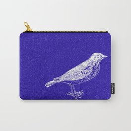 Blue Bird in the Snow Carry-All Pouch