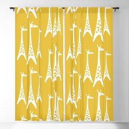 Mid Century Modern Giraffe Pattern 221 Mustard Yellow Blackout Curtain